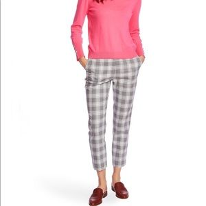 Court & Rowe Flat Front Shadow Plaid Trousers